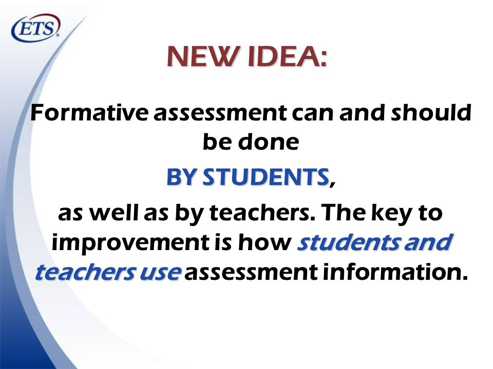 Formative assessment can and should be done