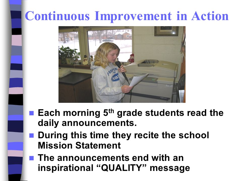 Continuous Improvement in Action