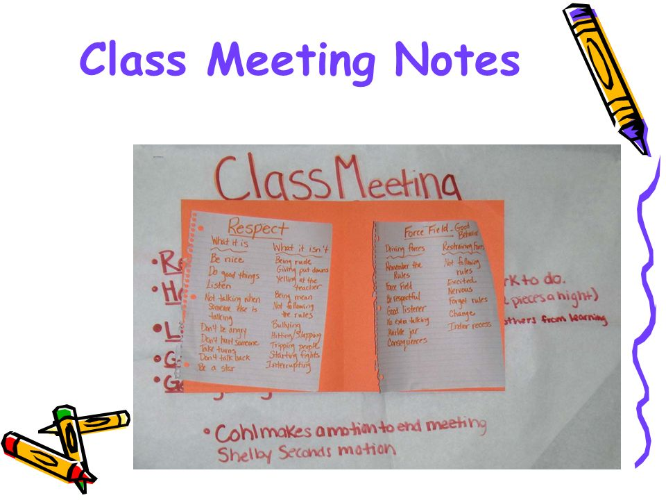 Class Meeting Notes
