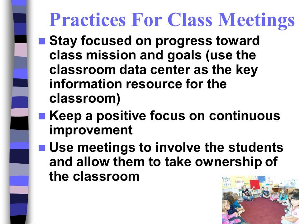 Practices For Class Meetings
