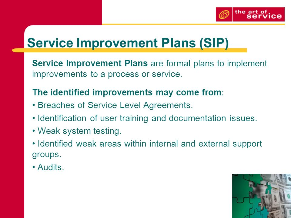 continuous service improvement plan template - continual service improvement methods techniques ppt