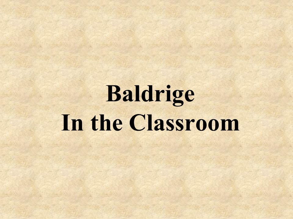Baldrige In the Classroom