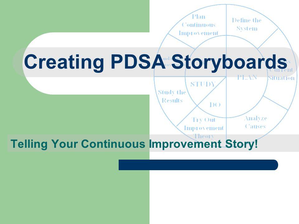 Creating PDSA Storyboards