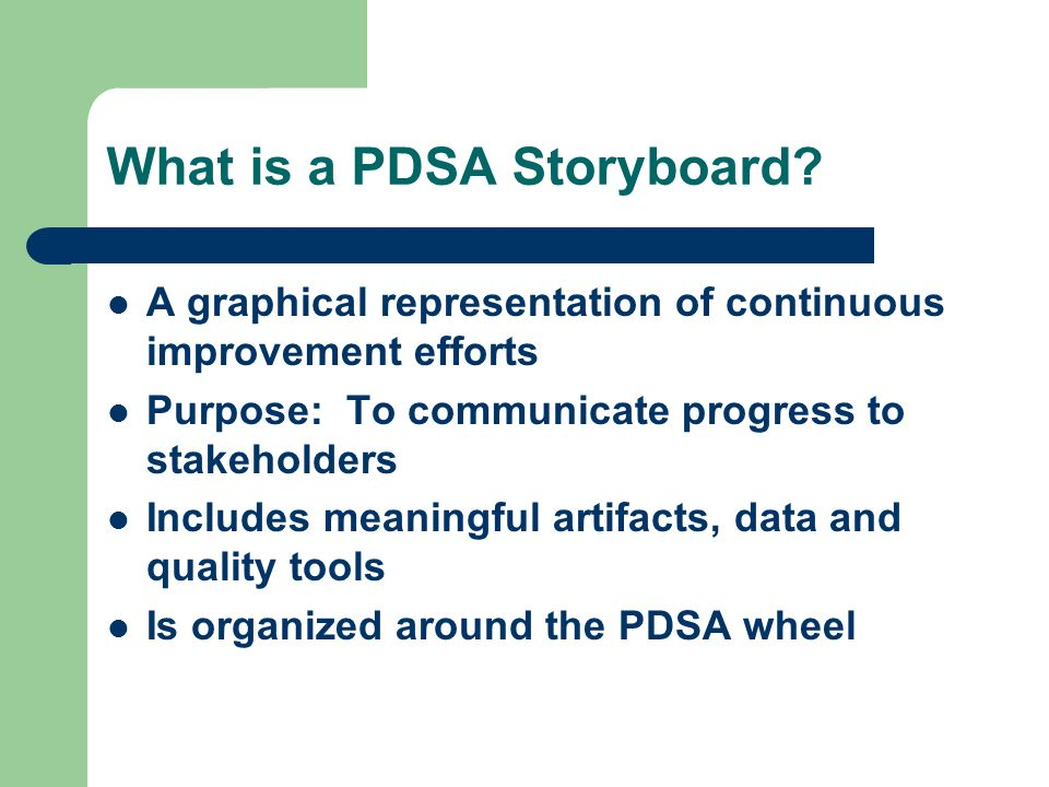 What is a PDSA Storyboard
