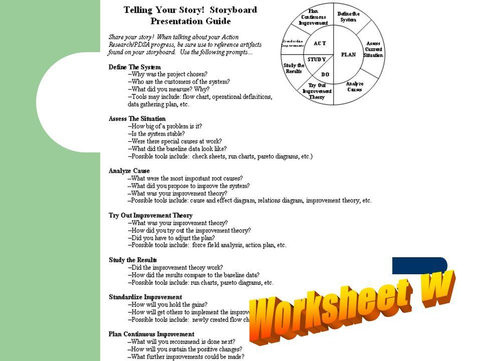 Worksheet W
