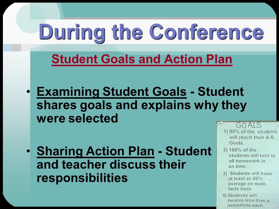 Student Goals and Action Plan