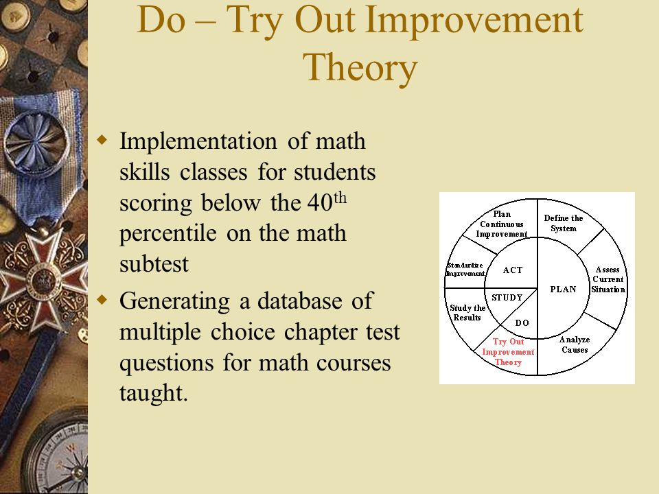 Do – Try Out Improvement Theory
