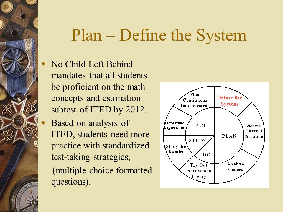 Plan – Define the System