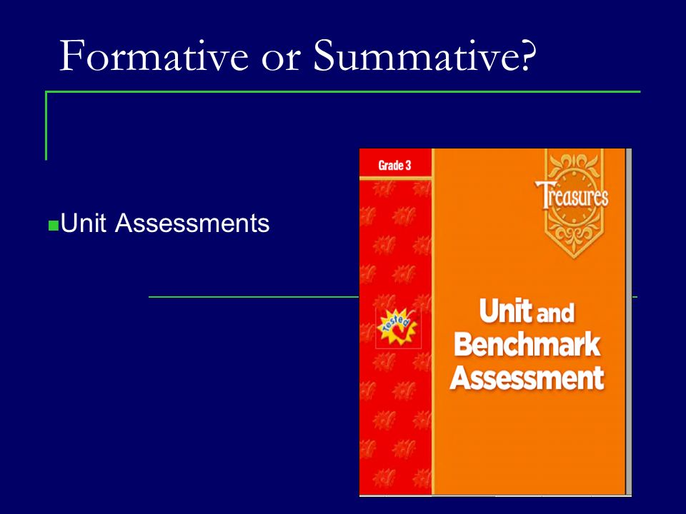 Formative or Summative
