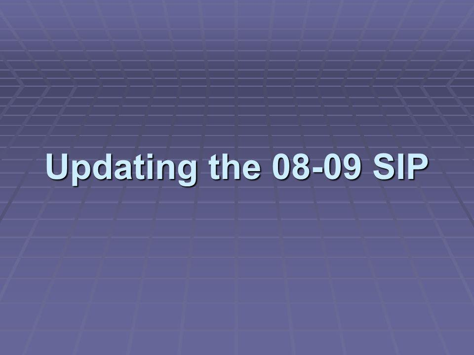 Updating the 08-09 SIP
