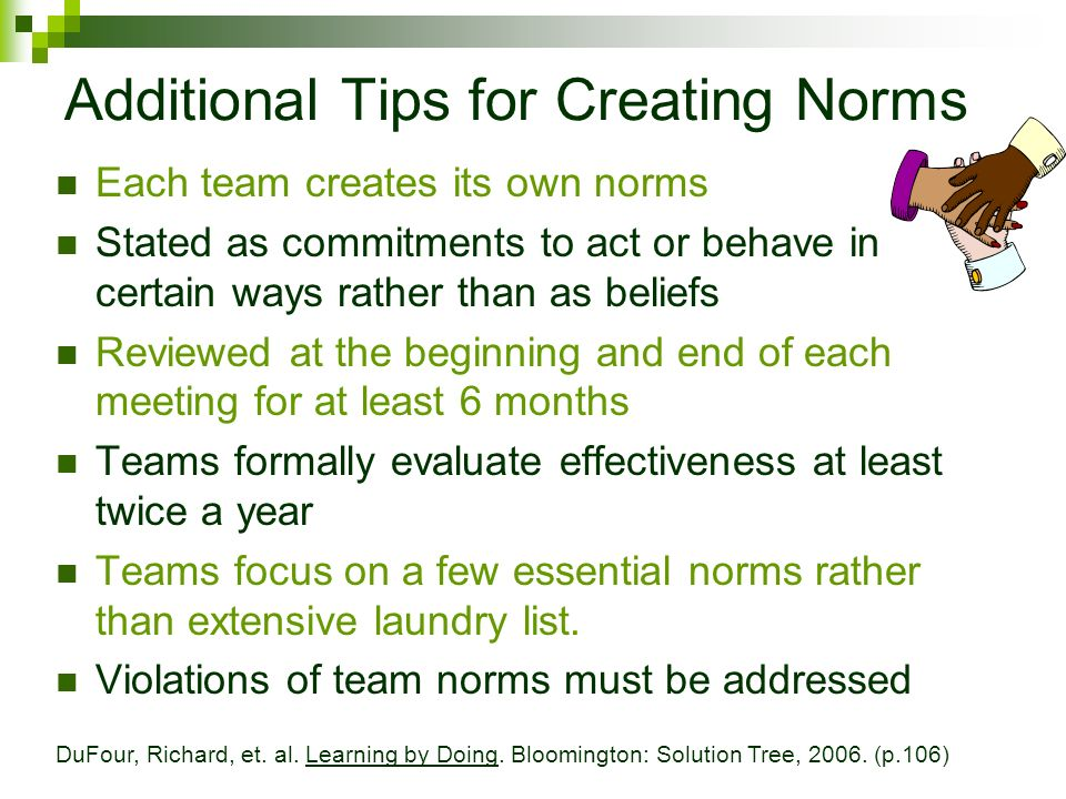 Additional Tips for Creating Norms