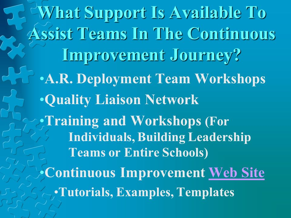 What Support Is Available To Assist Teams In The Continuous Improvement Journey