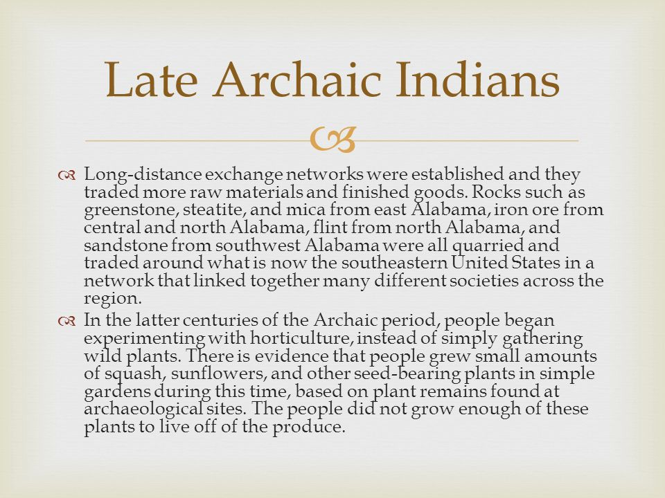 Late Archaic Indians