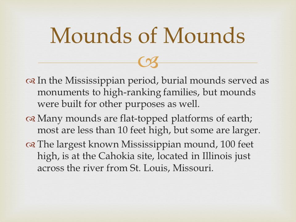 Mounds of Mounds