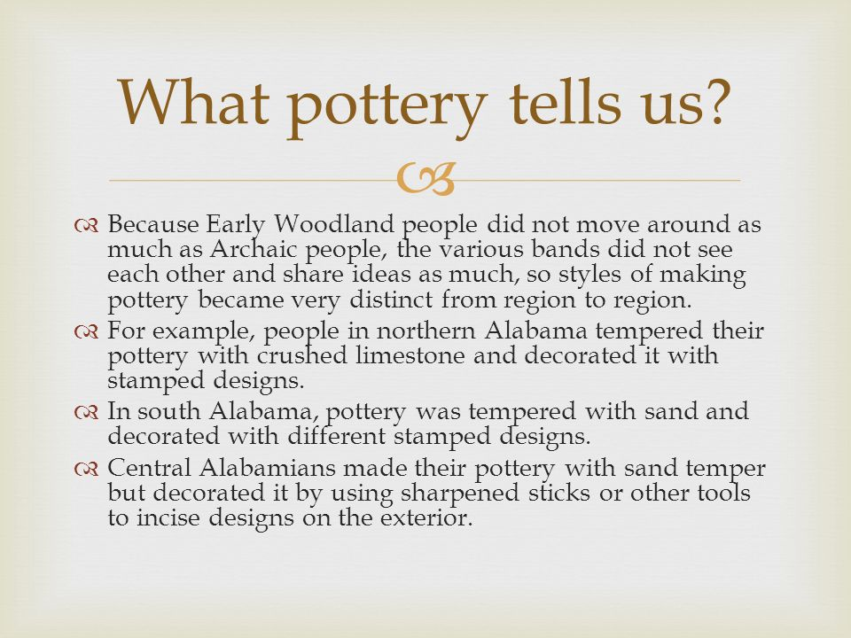 What pottery tells us