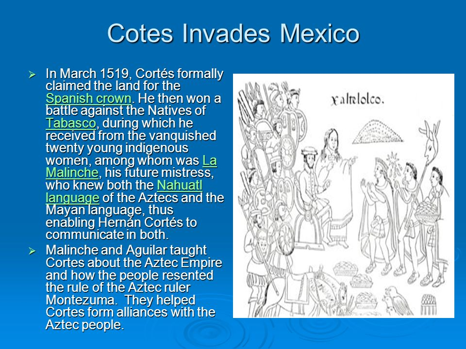 Cotes Invades Mexico