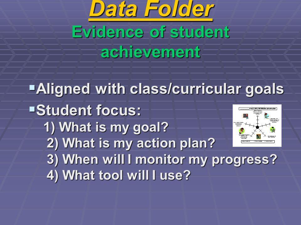 Data Folder Evidence of student achievement