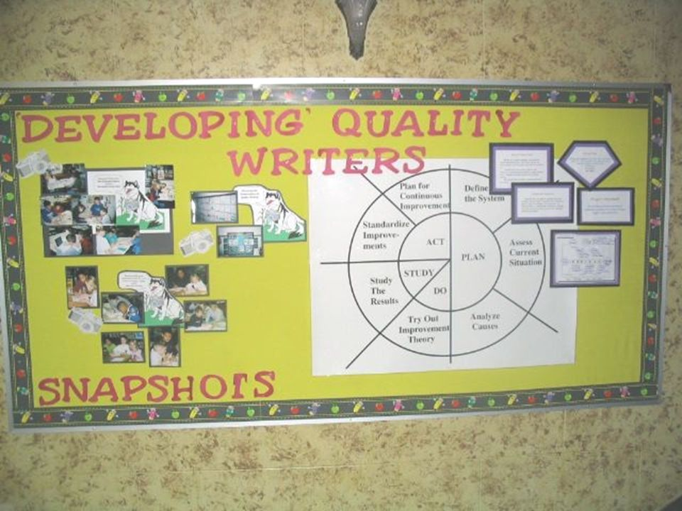 (Read this first ) PDSA story boards are displayed for all stakeholders to see.