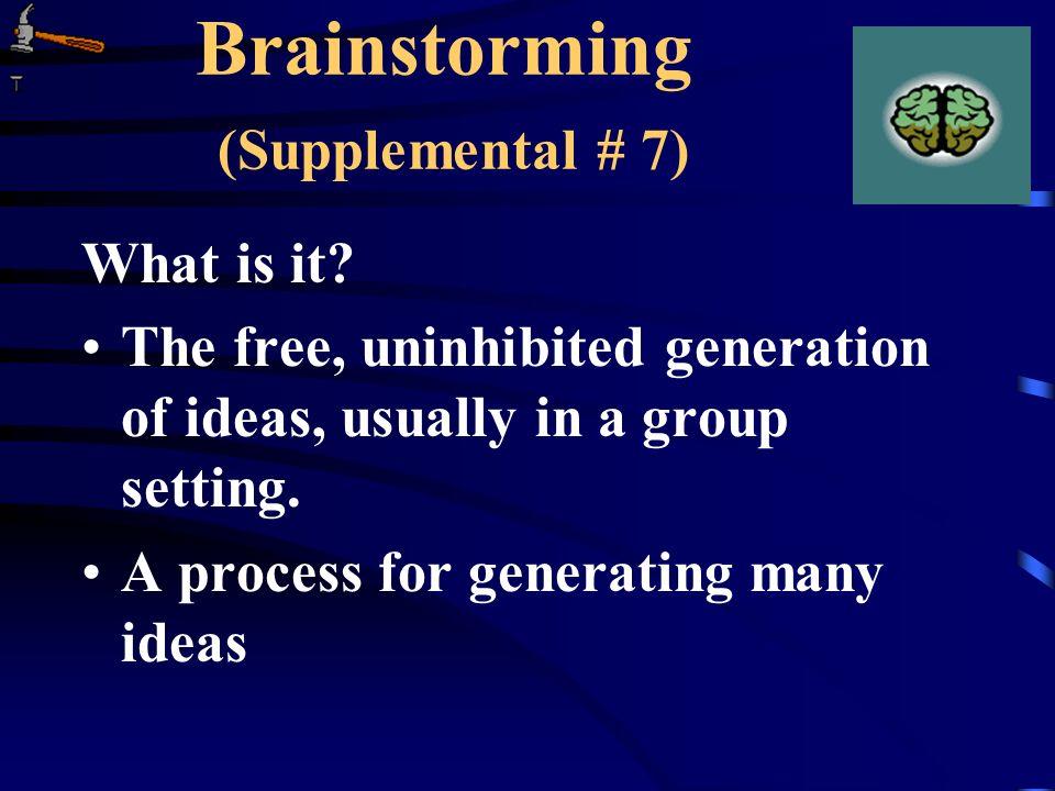 Brainstorming (Supplemental # 7)