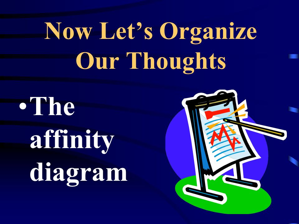Now Let's Organize Our Thoughts