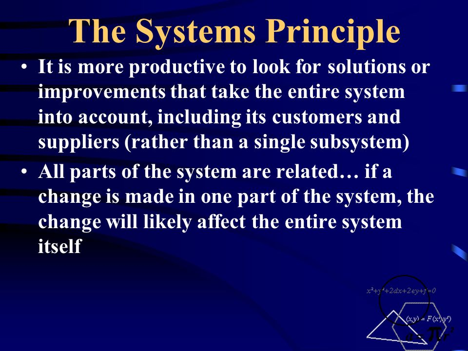 The Systems Principle