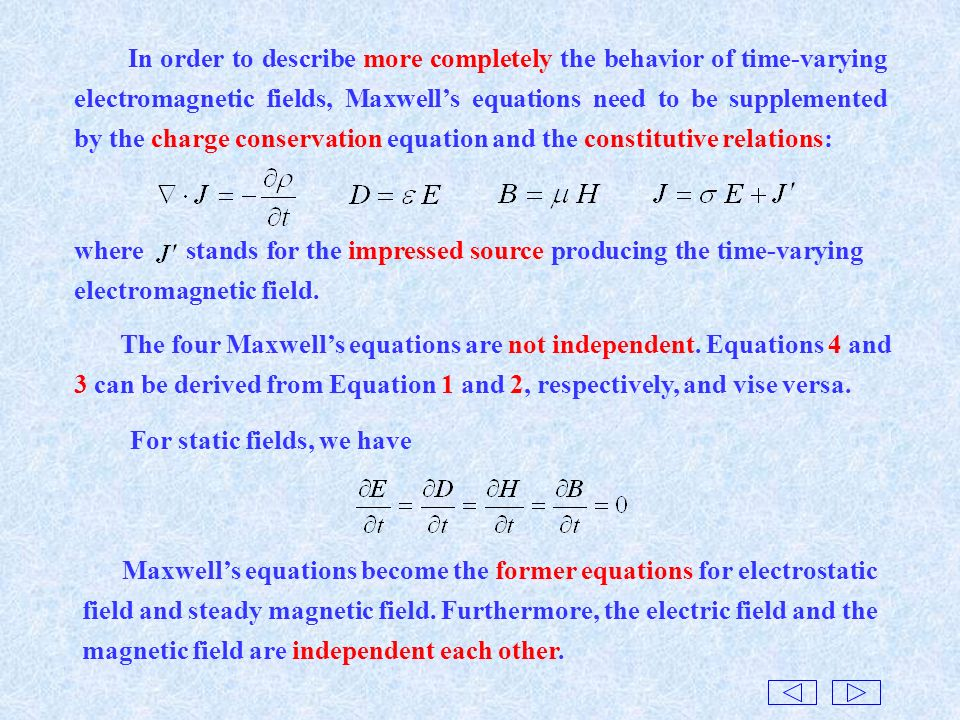 electromagnetic field equations Electromagnetic field equation relating to either the elec- electromagnetic field analysis, one of the numerical analysis, is now an indispensable method for designing and de - veloping electromagnetic application products.