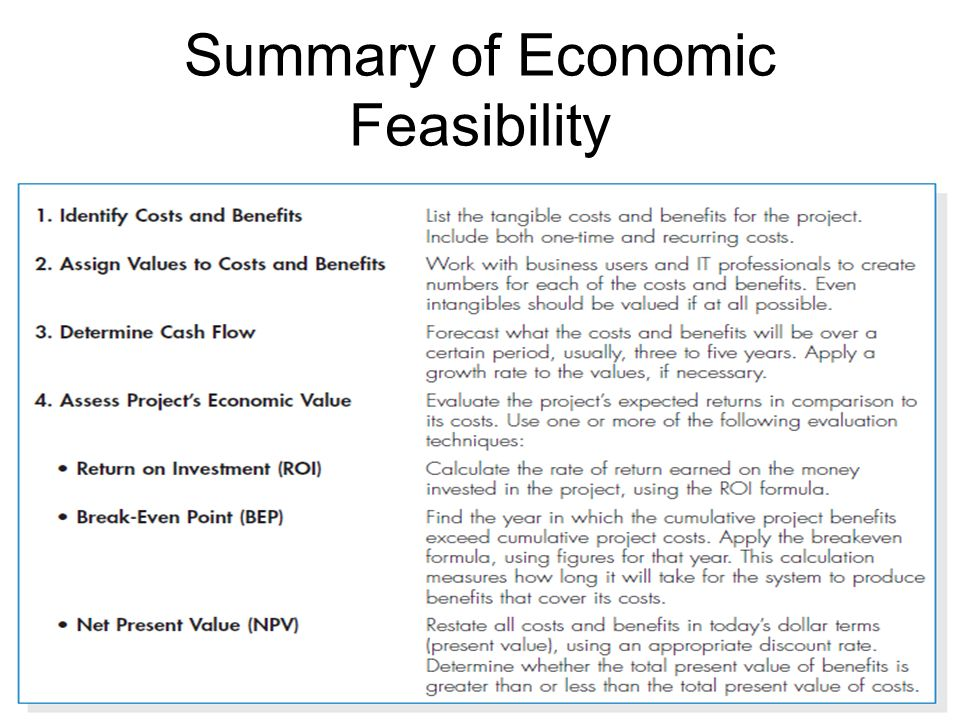 What is a feasibility study?