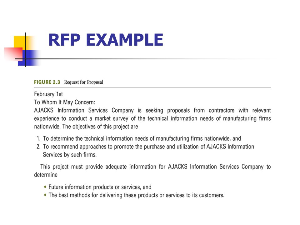 27 RFP Example