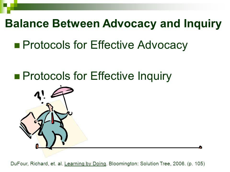 Balance Between Advocacy and Inquiry