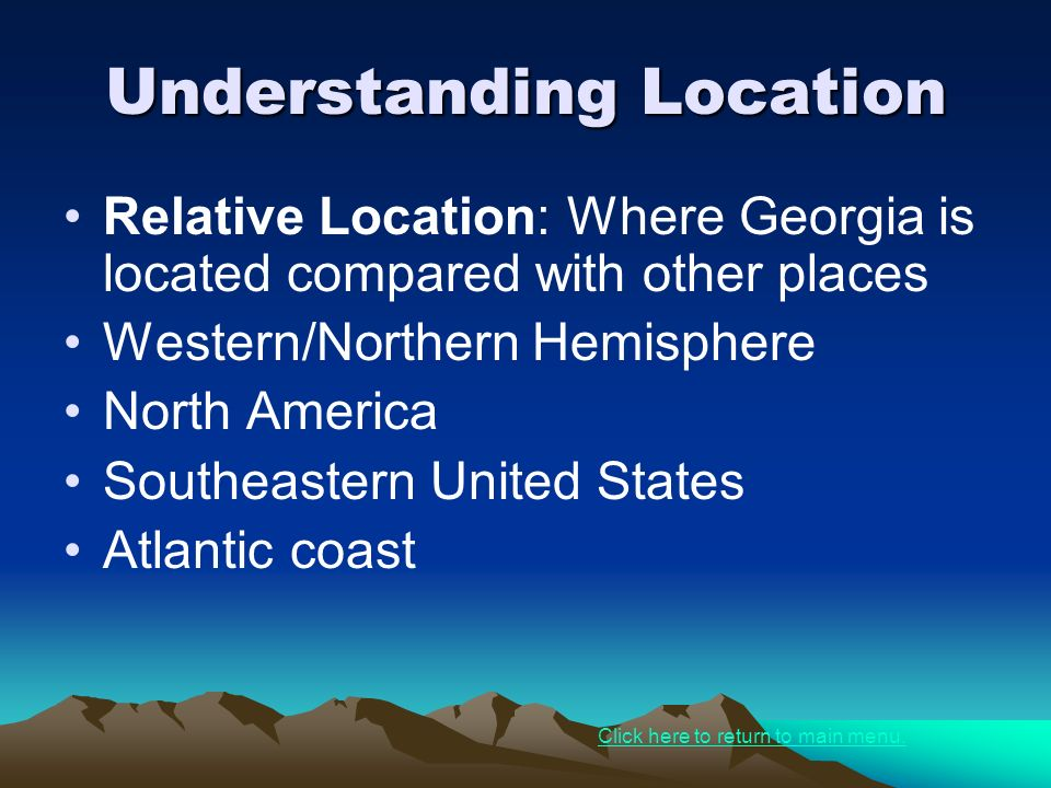Warm up define geography absolute location relative location understanding location sciox Choice Image