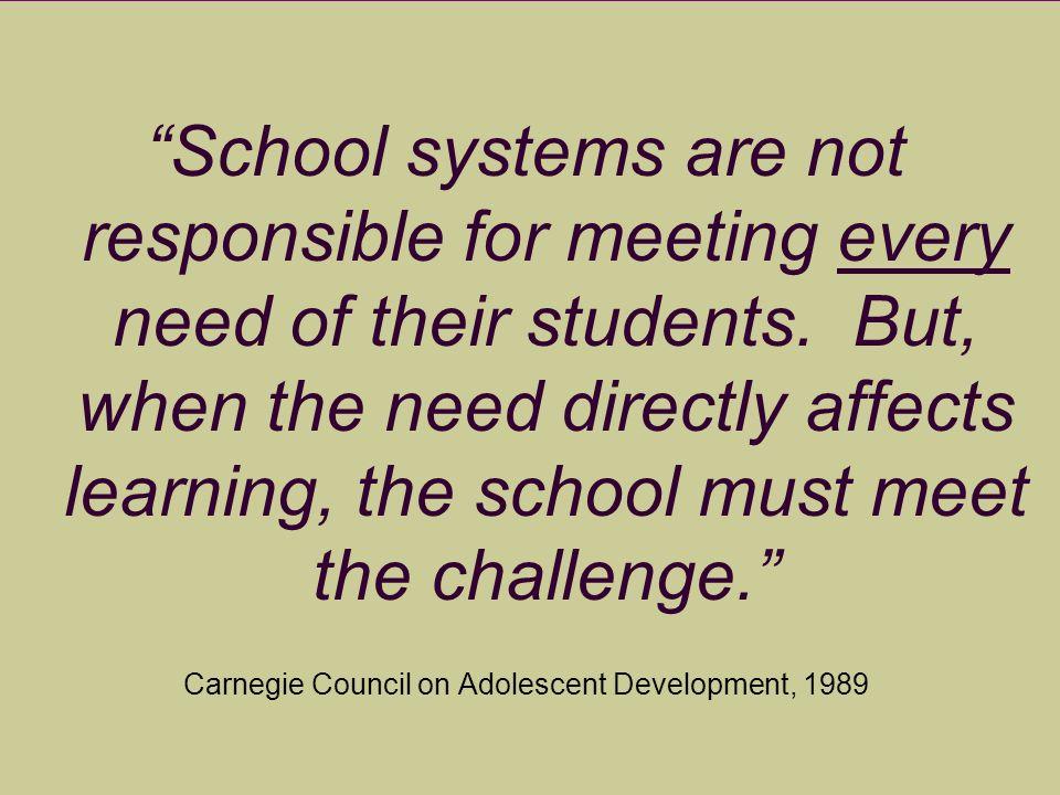 Carnegie Council on Adolescent Development, 1989