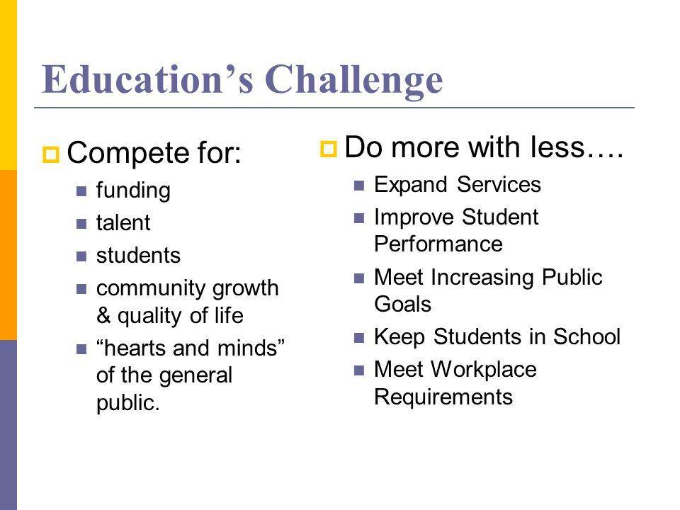 Education's Challenge