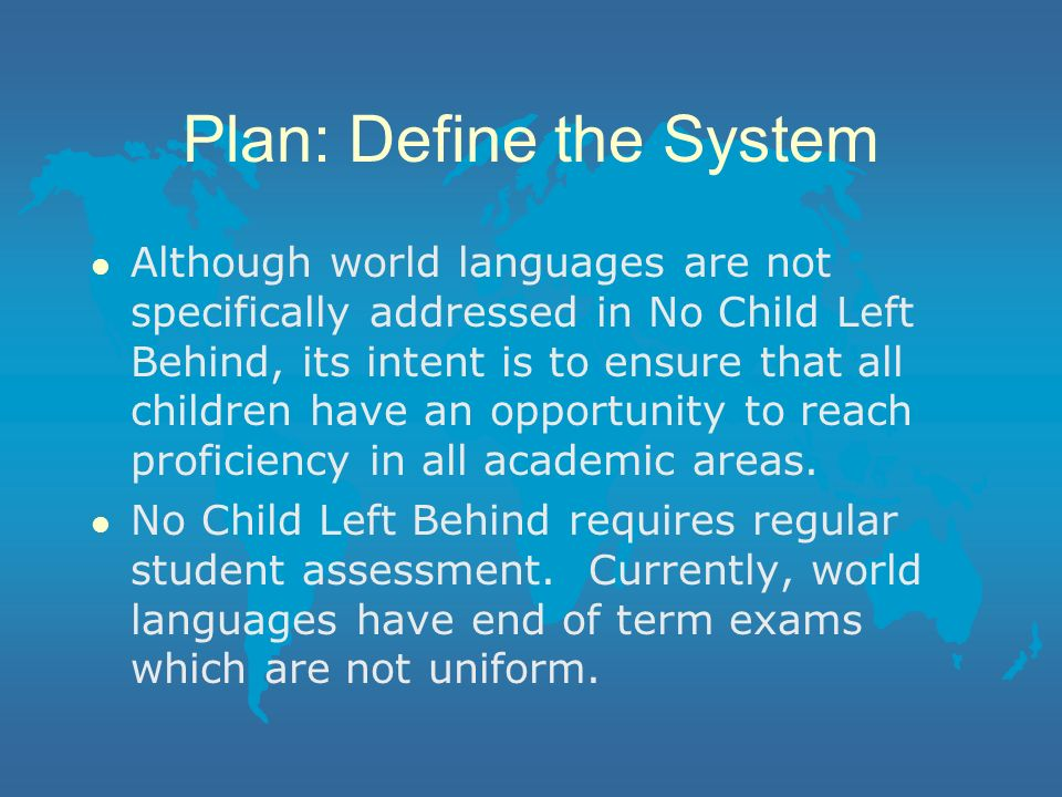 Plan: Define the System