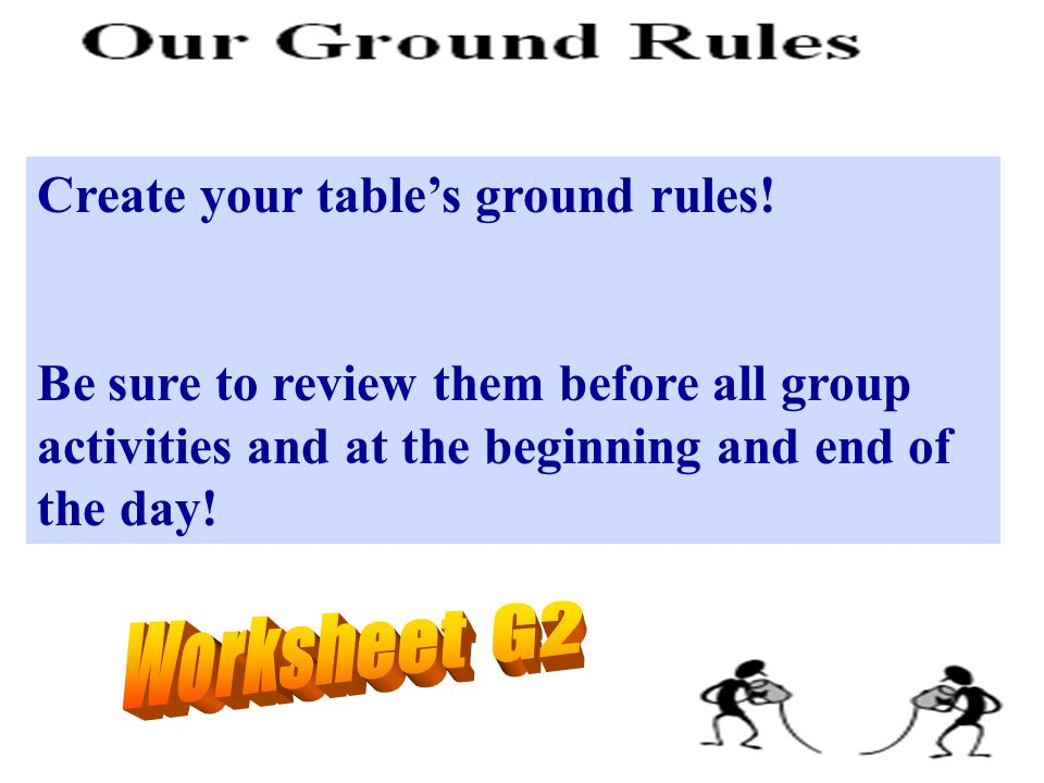 Create your table's ground rules!
