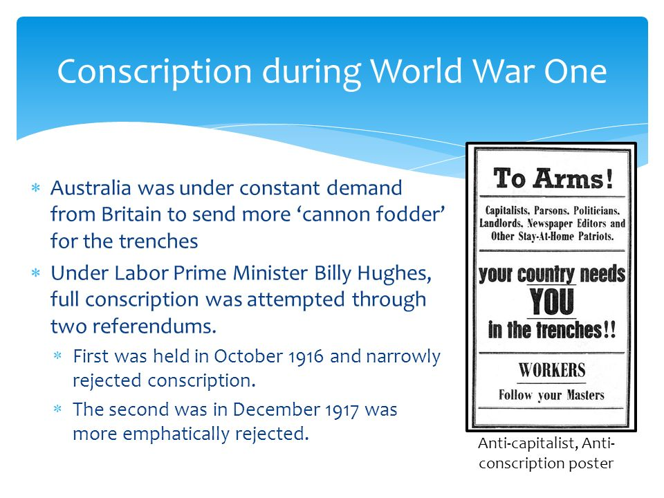 conscription during world war one essay Within a few months world war 1 conscription was rolled 2,277,623 – the total number of men conscripted into the british armed forces during the first world war.