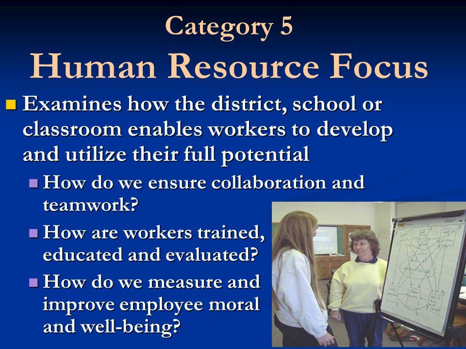 Category 5 Human Resource Focus
