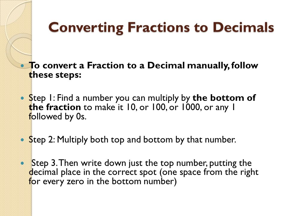 Converting fractions to decimals worksheet tes
