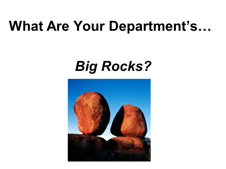 What Are Your Department's…
