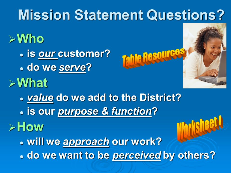 Mission Statement Questions