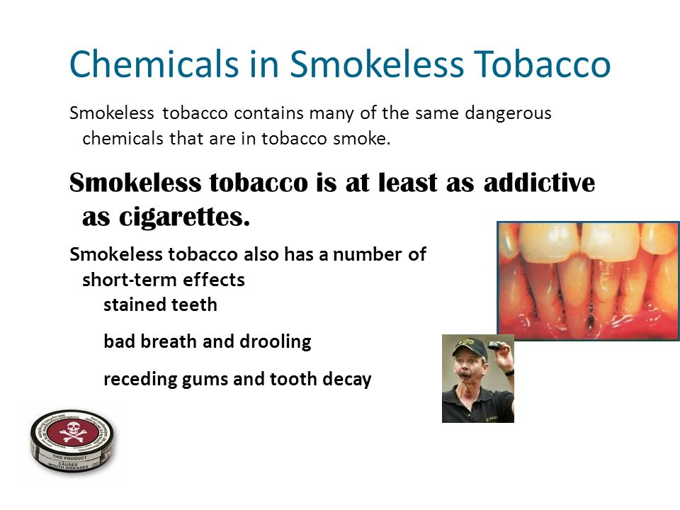 Chemicals in Smokeless Tobacco