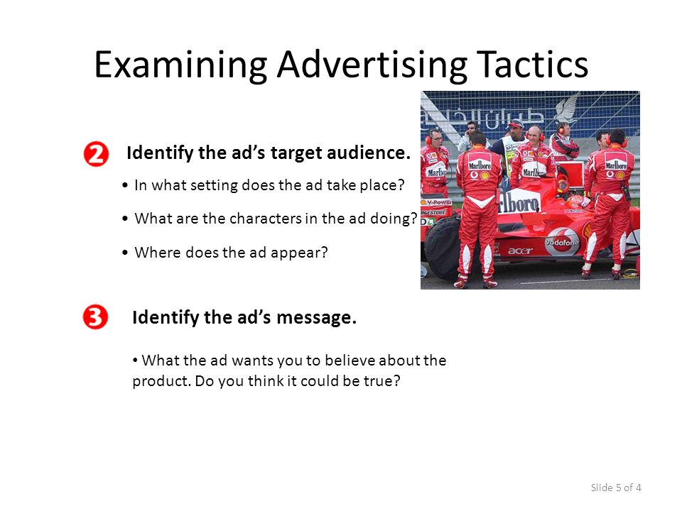 Examining Advertising Tactics