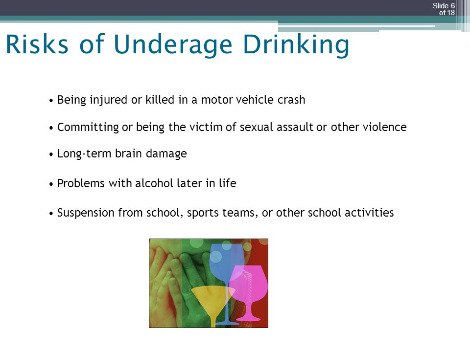 Risks of Underage Drinking