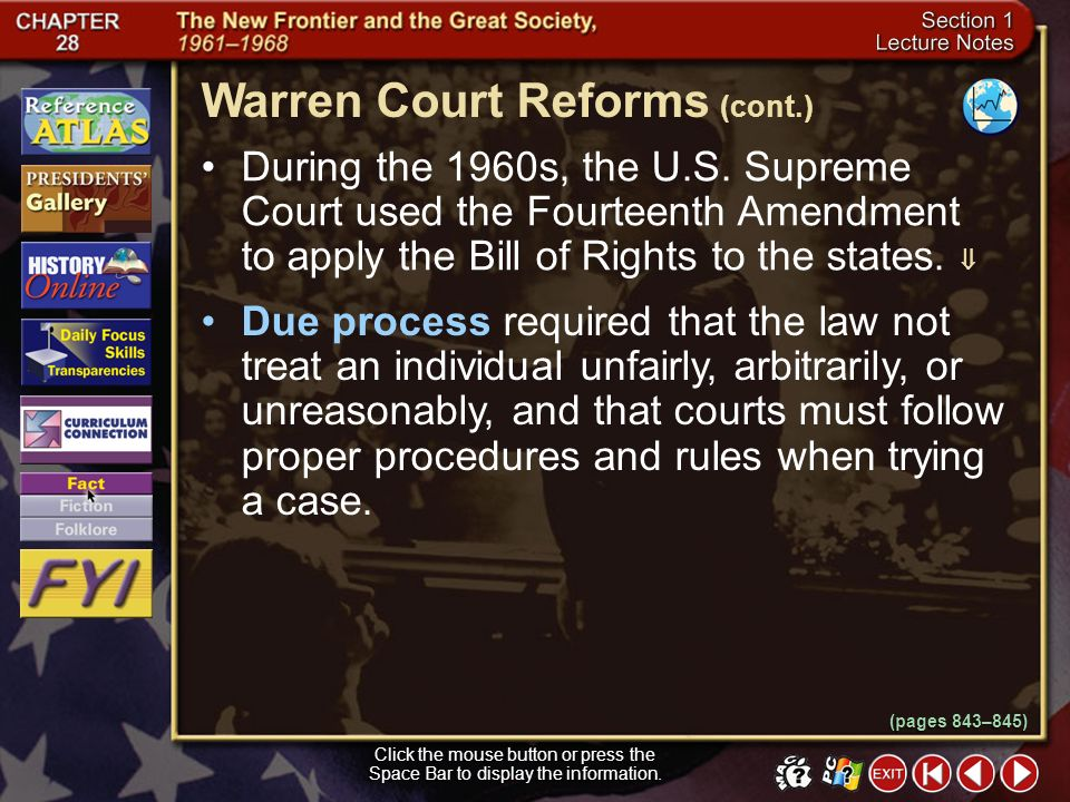 Warren Court Reforms (cont.)