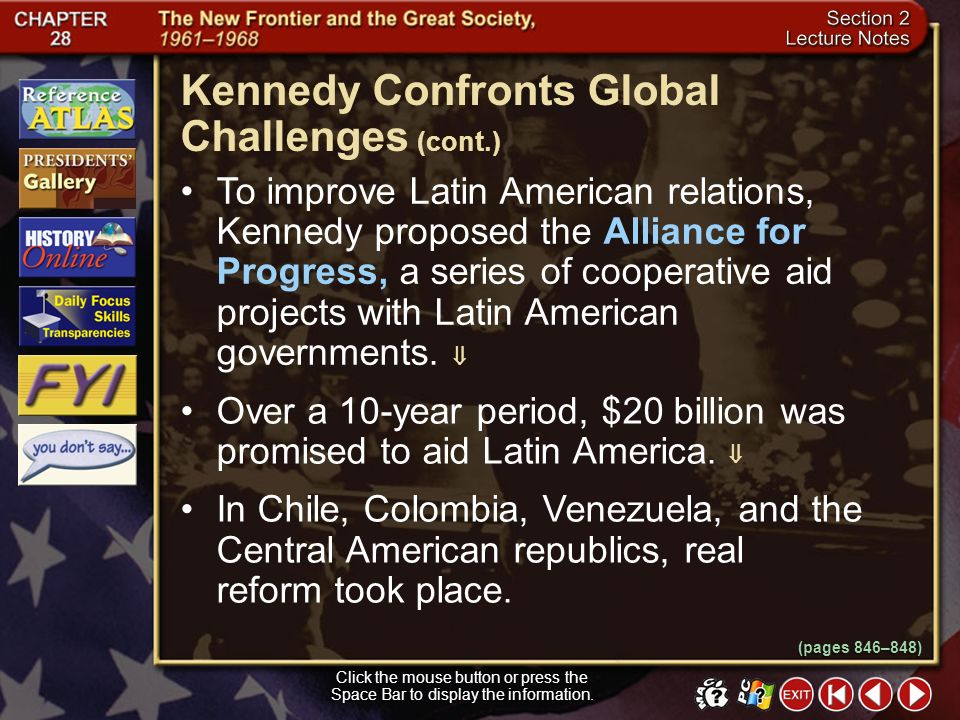 Kennedy Confronts Global Challenges (cont.)