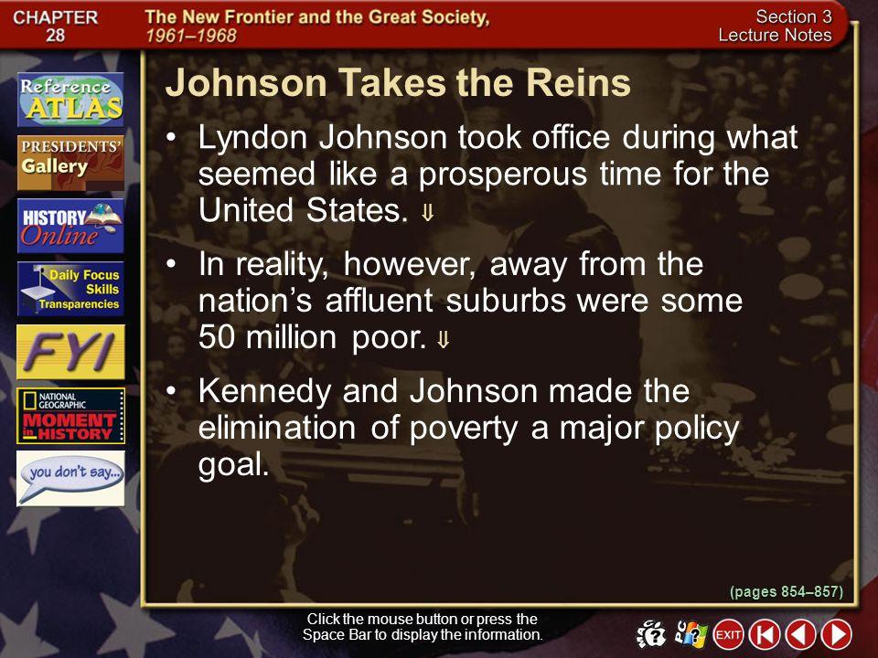 Johnson Takes the Reins