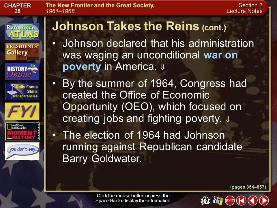 Johnson Takes the Reins (cont.)