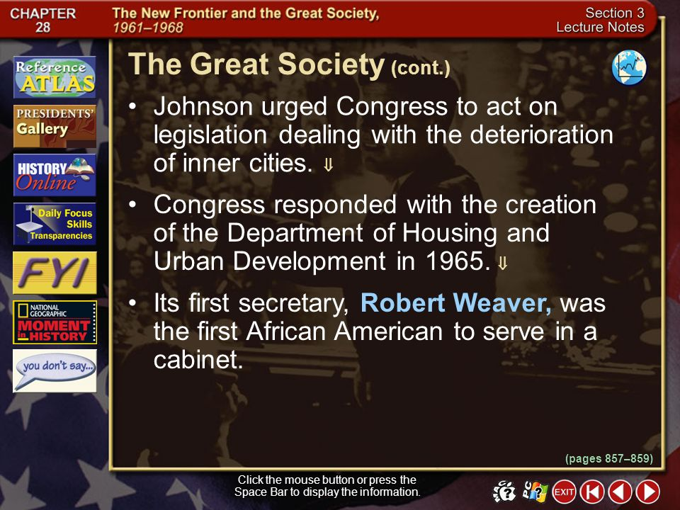 The Great Society (cont.)