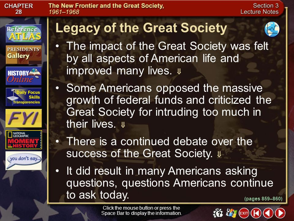 Legacy of the Great Society