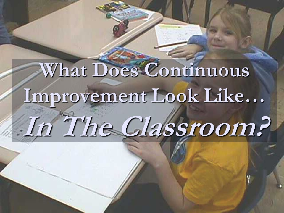 What Does Continuous Improvement Look Like… In The Classroom