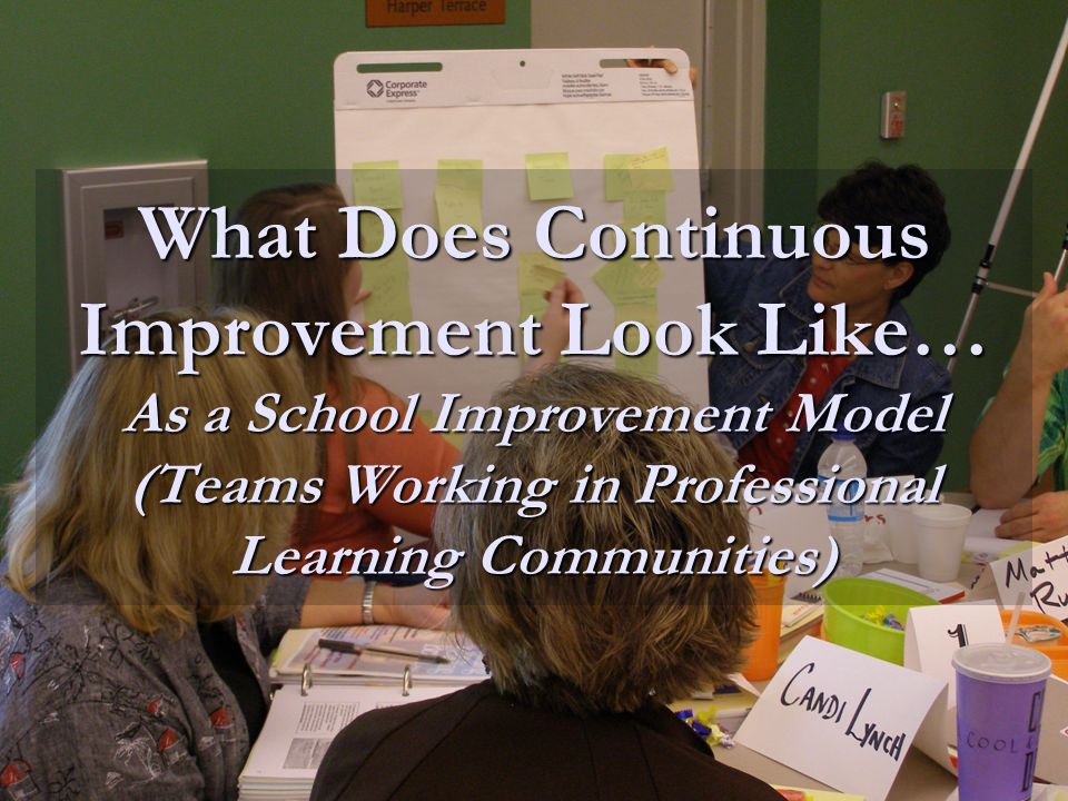 What Does Continuous Improvement Look Like… As a School Improvement Model (Teams Working in Professional Learning Communities)